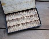 Vintage Watch Parts Vials 48 Tiny Glass Vials Industrial Steampunk Jewelry Supply