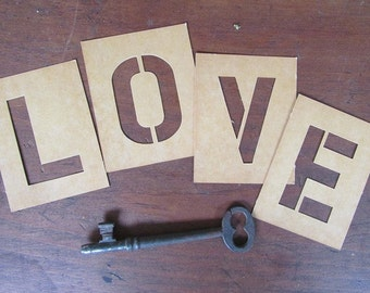 letter stencils duro art supply vintage stencil alphabet letters not complete 2 size