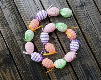 Clearance Easter Egg Garland, Easter Garland, Egg Garland