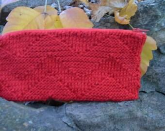 red chevron clutch
