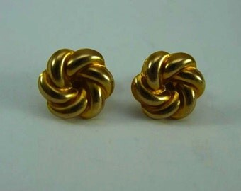 10k Loveknot Earrings - Pierced Screw On Back - Threaded Posts
