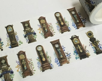 1 Roll of Limited Edition Washi Tape: Clock