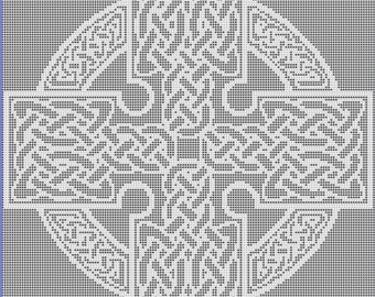 Square Celtic Cross Filet Crochet Pattern