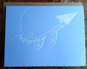 Missing You Card, Envelope Included, Calligraphy