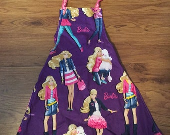 Barbie apron~fits girls 4-6 yrs old