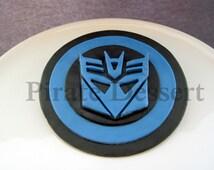 Edible TRANSFORMERS Cake Topper - DECEPTICONS LOGO - Decepticons cake Topper -  Megatron - Transformers Cake - Fondant cake topper (1 piece)