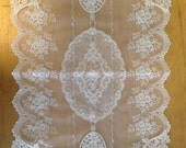Wholesale Handmade Wedding Home Deco Tableware Table Doily Runner,Embroidery&Lace 28x45cm