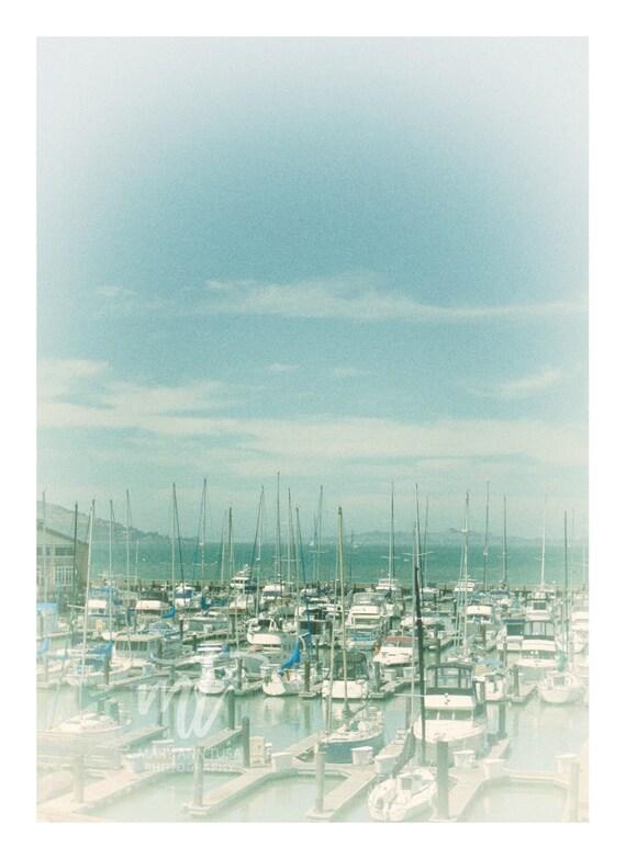 San Francisco Bay Marina On a Sunny Day