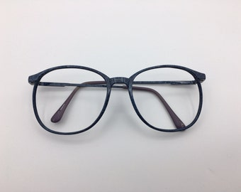 Slate blue Navy blue granite patterned nerdy frames 55-13