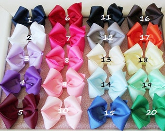 Girls hair bows - set of 8 - Infant hair bows  -- 2.00 hair bows / Toddler hair bows - Birthday gift / You can choose colors.