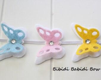 Easter headband- Butterfly headband -Felt headband- Hair accessories- Baby girl headband- Toddler headband- birthday gift