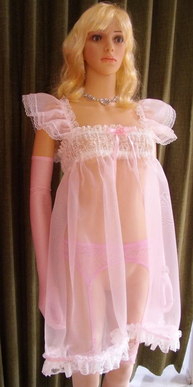 M Sissy Babydoll Pink Organza Bust Jpg 570x1142 Baby Doll Nightgowns Tumblr