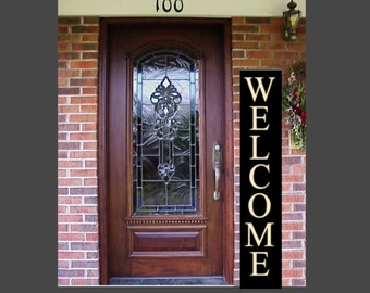 Welcome Sign, Large Front Porch Sign, Greeting Sign, Custom Wood Sign, XL , Outdoor Sign, Wedding Sign, Front Door Sign, Veranda, Deck