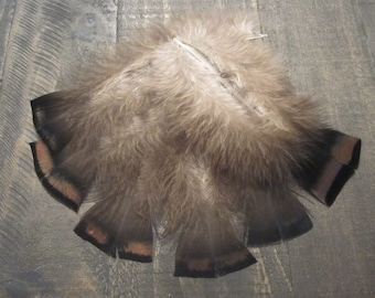 6 Black Turkey Feathers with Copper Iridescent ~ Cruelty Free **Use Coupon Code FEATHERS20 and save 20% on all Feathers**