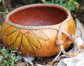 Sunflower Gourd Bowl