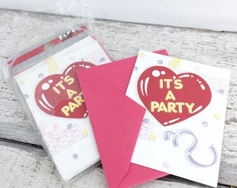 Totally Rad Vintage 1980's NOS Party Invitations