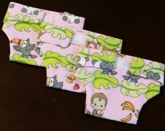 Flannel Doll Diapers with Baby Wipe Holder