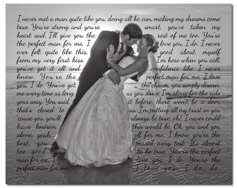 Wedding photo with song lyrics print wedding song first for Unique first dance wedding songs