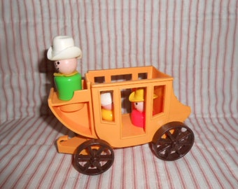 Fisher Price Little People Stagecoach With Three People