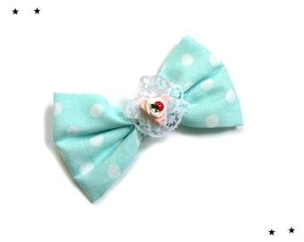hair bow hair clip barrette kawaii Lolita Candy mint