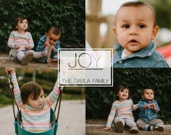 Joy - Custom Photo Christmas Card