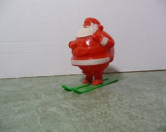 Santa candy holder on skis