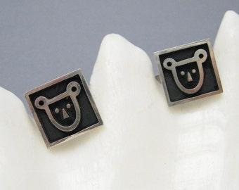 Sterling Cow Brand Cufflinks Vintage FS H781
