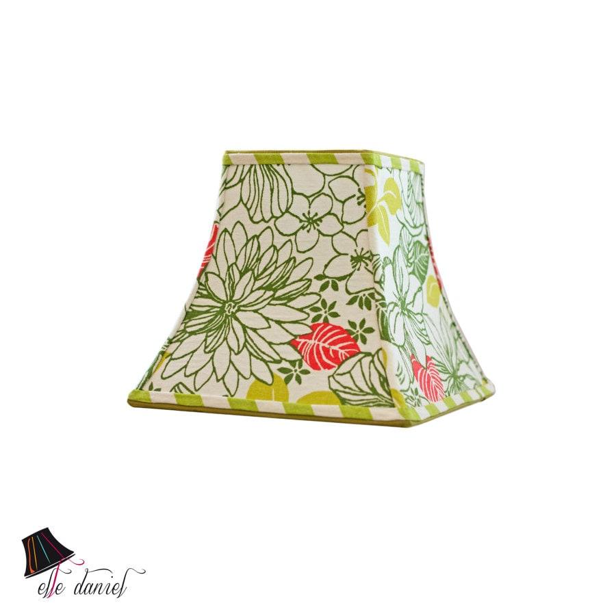 green floral lamp shade handmade lamp shades green lamp. Black Bedroom Furniture Sets. Home Design Ideas