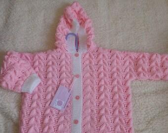 Handknit sleeping bag 3-6 months