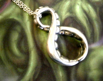 Sterling Silver Infinity Tentacle pendant