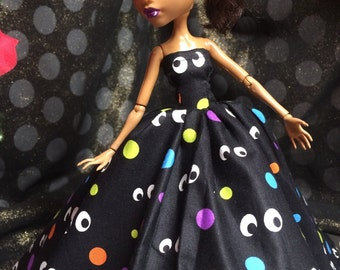 Colorful Eyes Gown for your Monster High Girl Doll