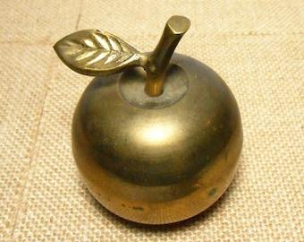 Vintage Bell, Brass, Apple, Bell, Solid Brass, Apple Bell, Brass Bell, Teachers Gift