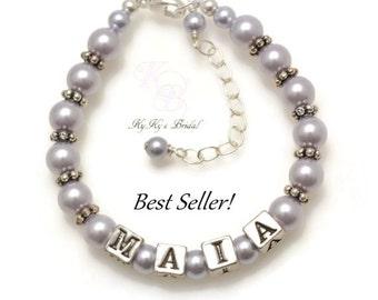 Personalized Baby Bracelet, Keepsake Bracelet, Baby Gift, Little Girl Bracelet, Little Girl Jewelry, Personalized Baby Gift, Baptism Gifts