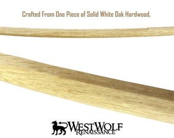 Japanese White Oak Practice Sword -- Handmade Wooden Training Katana/Samurai/Bokken