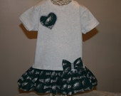 Baby Girls to Teens PHILADELPHIA EAGLES Tshirt Dress Infant Toddlers Game Day Football Dresses Bow Headbands Available SELECT Tab for Size