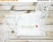 "ON SALE 5% OFF 2"" Stretchy Elastic Lace - White Color - Floral Print - White Stretchy Lace - White Elastic Lace -Hair Accessories Supplies W"