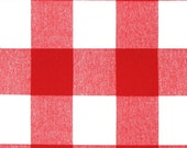 Red and White Buffalo Check Curtains - Rod Pocket - 84 96 108 or 120 Long by 24 or 50 Wide - Optional Blackout Lining
