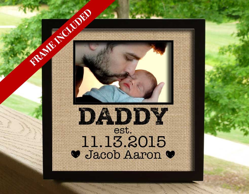 fathers day gift for husband first dads day daddy photo gift photo gift for husband first fathers day gift daddy established date