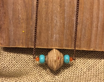Ugandan Recycled Paper Bead Necklace (Limited Edition)