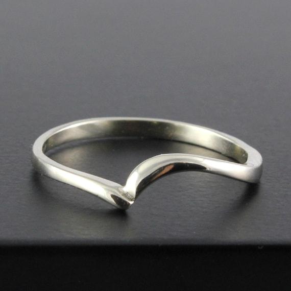 Silver Wedding Band Swirl Design Simple Ring Custom Band