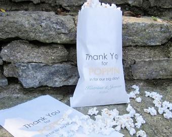 Popcorn Bag - Set of 25 - Wedding Favor - Popcorn Bar - Gourmet Popcorn - Favor Bag - Birthday Party Favor
