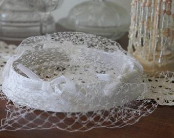 Bridal Veiled Hat, Vintage Bridal Hat
