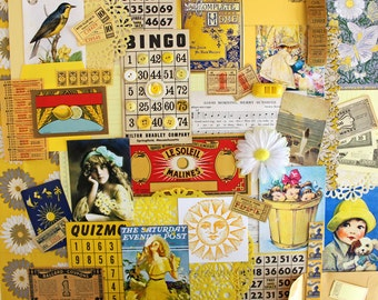 Here Comes the Sun*Yellow Inspiration Kit*Sunny Yellow Ephemera Paper Pack