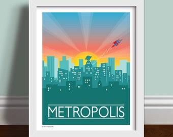 Metropolis - Superman Art Print Poster