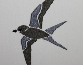 Bird 13 Digitized Machine Embroidery Design Swallow