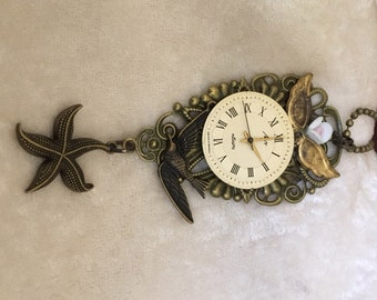 Collectible Steam Punk Pendant with Victorian Flair - Antique Brass