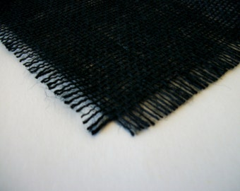 6 Foot Black Burlap Table Runner 12 inches X 72 inches Jute Table Decoration Home Decor Rustic Wedding Table Runner Black Onyx