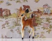 Vintage Kitsch Deer Cute Babycham Bambi Plastic Fawn Celluloid