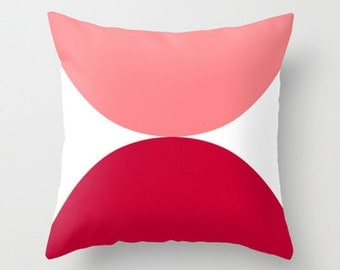 "narcissus, pink cushion, red cushion, cushions, pillows, throw pillows, cushion cover, pillow cover. 16"" x 16"", 18"" x 18"" or 20"" x 20"""