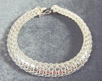 Sterling Silver Weave Bracelet B43